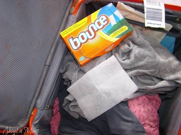 лайфхак по укладке чемодана