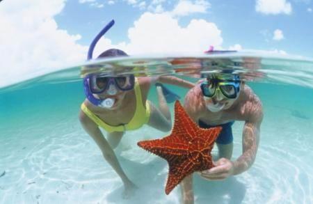 снорклинг на Багамах Харбор