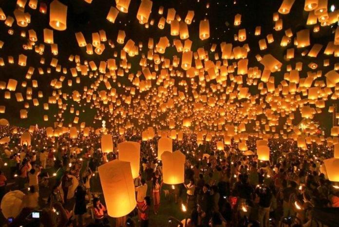 фестиваль летающих фонариков