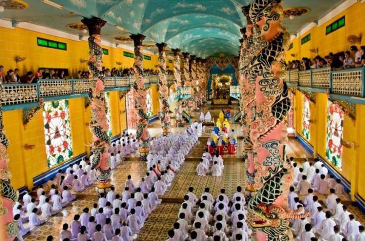 Cao Dai temple церемония