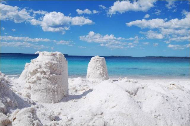 Экзотические пляжи мира Hyams Beach