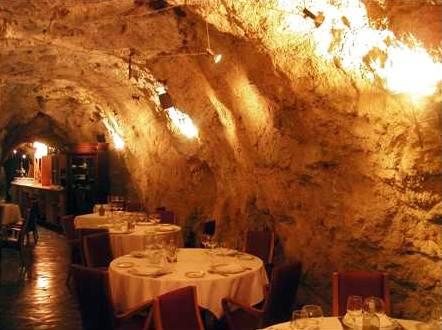 необычный ресторан La-Gruta