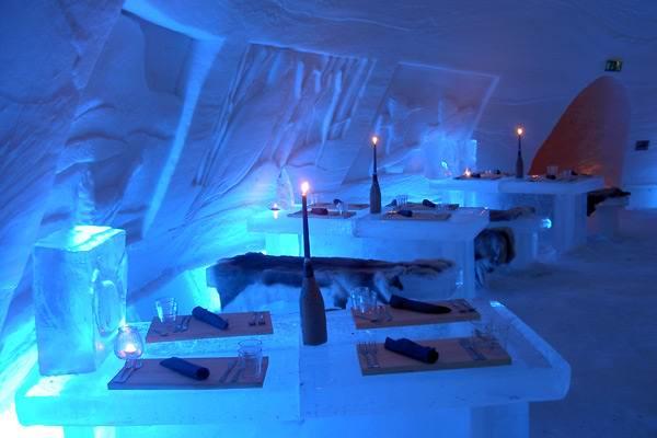 необычный ресторан Laino-Snow-Village-Ice-Restaurant