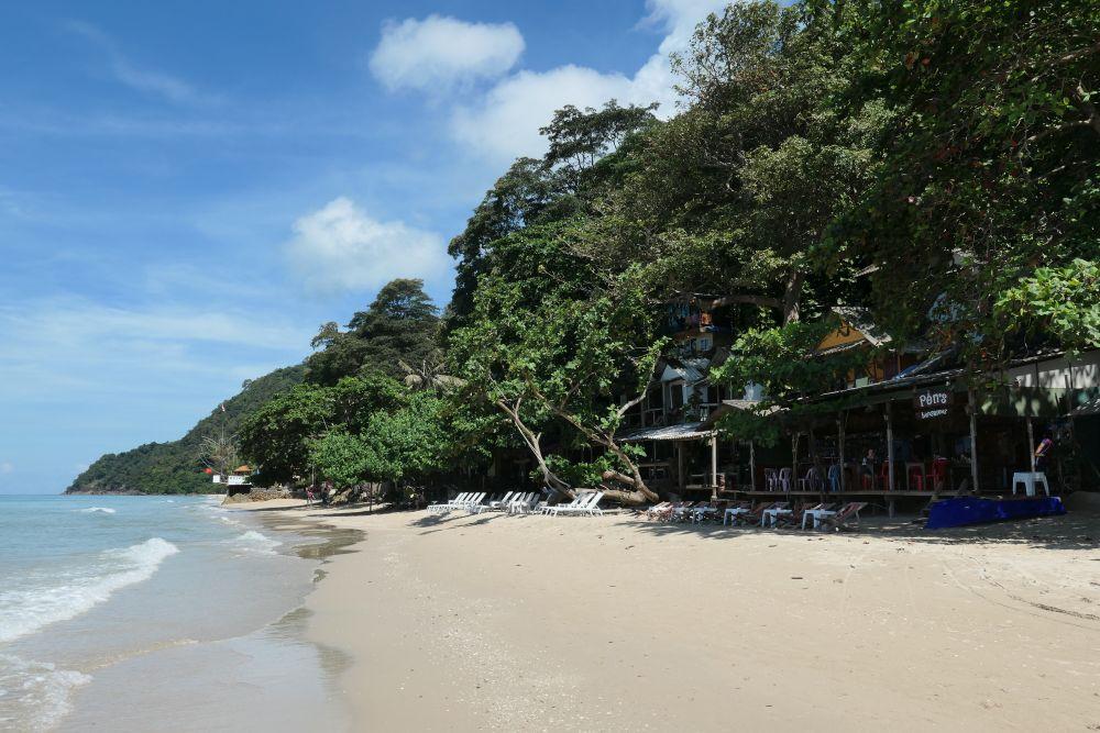 Пляж White Sand Beach остров Ко Чанг северная оконечность