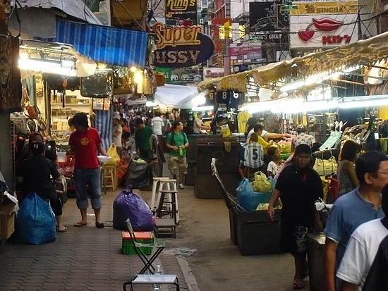 можно поесть на ночном рынке