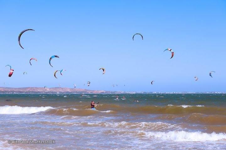 кайтсерфинг на пляже Фантьета