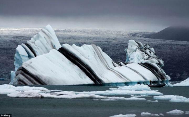 полосатый айсберг - 39 удивительных и сумасшедших природных явлений - часть 3