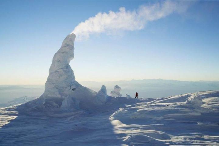 снежный камин - 39 удивительных и сумасшедших природных явлений - часть 3