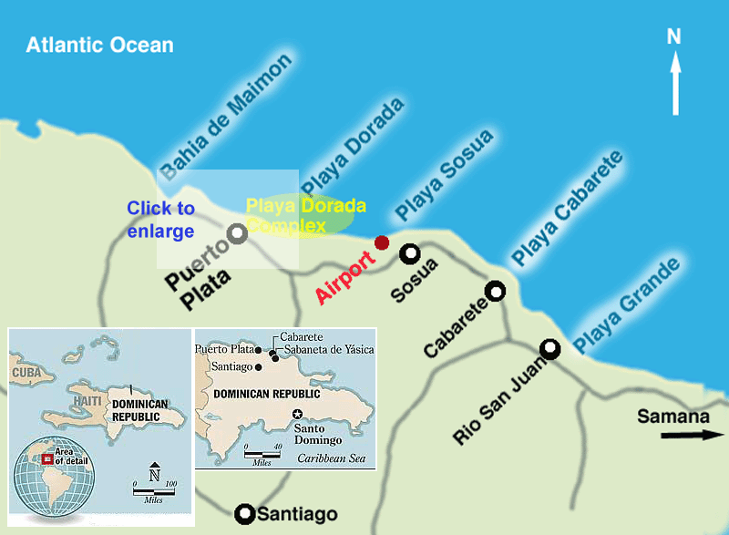 карта Пуэрто Плата