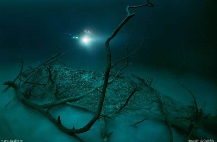 river-under-ocean - Удивительная подводная река в Мексике