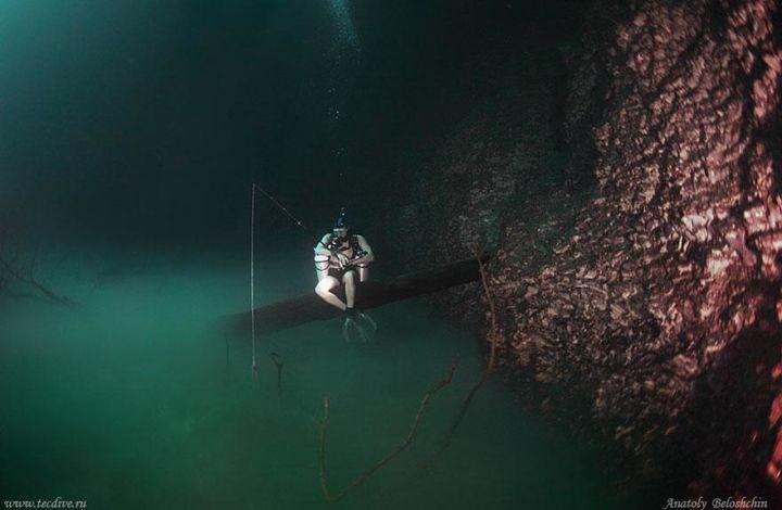 river-under-ocean подводная река - Удивительная подводная река в Мексике