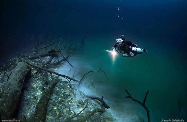 подводная река в мексике river-under-ocean 4 - Удивительная подводная река в Мексике