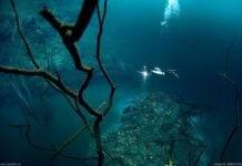 Удивительная подводная река в Мексике