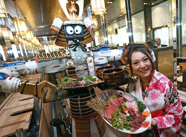 необычный ресторан robot-Lapassarad