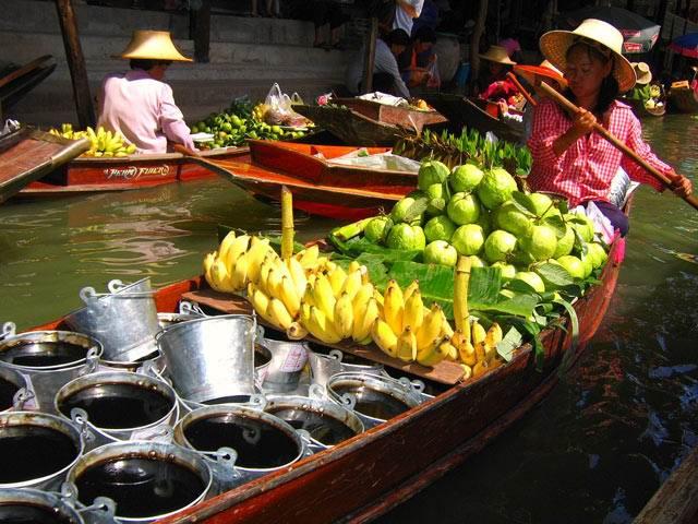 1332422173_floating-market - Лучшие 10 мест Таиланда