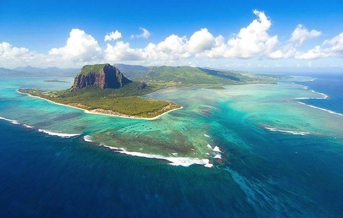 Подводный водопад на острове Маврикий - Подводный водопад на острове Маврикий