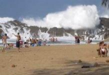 Гигантские волны на пляже Плайя в Пуэрто-Рико — почувствуйте себя в безопасности